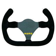 Momo Model 27 C Single Seater/Formula/Race Steering Wheel  - Black Suede