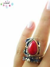 Turkish 925 Sterling Silver Jewelry Authentic Quartz Adjustable Size Ring R1318