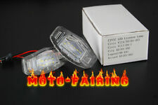 Pair White LED License Plate Lights Direct Fit For Acura TL TSX RDX Honda CIVIC