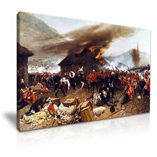Battle of Rorke's Drift Zulu War Canvas Wall Art Picture Print 76x50cm