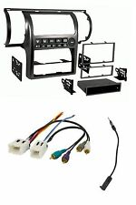 Black Radio Install Dash Kit/Wire Harness/Antenna Adapter for 03-04 Infiniti G35