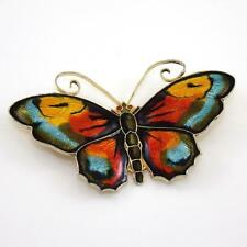 "VTG David Andersen Sterling Silver Enamel Modernist 2 3/8"" Butterfly Pin Brooch"