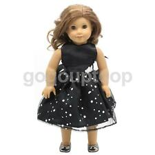 """Black Sleeveless Dress w/ Sequins for 18"""" American Girl Our Generation Doll"""