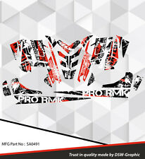 SLED GRAPHICS DECAL STICKER WRAP POLARIS 600 800 PRO-RMK RUSH 2010-2015 SA0491
