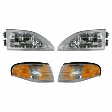 Headlights & Parking Corner Lights Left & Right Pair Set for 94-98 Mustang Cobra