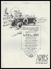 PUBLICITE  AUTOMOBILE ARIES LA 8-10 CV  CAR   AD  1924 -11G