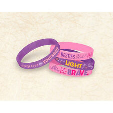 TANGLED Dream Big RUBBER BRACELETS (6) ~ Birthday Party Supplies Favors Disney