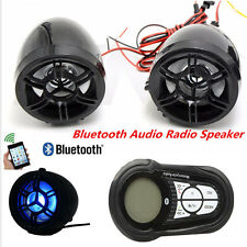 Motorcycle Bluetooth Audio System FM Radio Stereo Speaker SD TF MP3 USB Charger