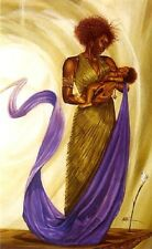 African American Art Print - Joy of Her World - Kevin A. Williams WAK - 34x24