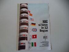advertising Pubblicità 1970 CAFFE' HAG