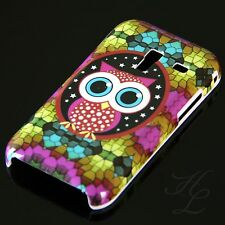 Samsung Galaxy Ace Plus S7500 Hard Handy Case Hülle Cover Etui große Eule Owl