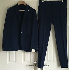 LBM 1911 LUBIAM MEN'S Dandy Ltd Edition Mid Blue Slim Fit Cotone Tuta Eu 50 NUOVI