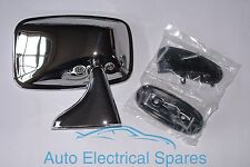 CLASSIC CAR CHROME Right Hand Rectangular Door Mirror MGB TRIUMPH