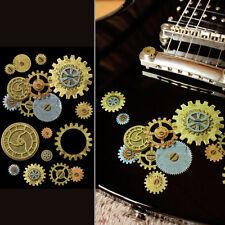 Steampunk Rusty Gear Set Inlay Sticker Decal For Guitar & Bass