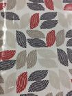 """JOHN LEWIS Red Leaves PVC TABLECLOTH 54""""wide By The Half Metre"""