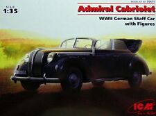 ICM 1/35 Opel Admiral Cabriolet WWII German Staff Car with Figures # 35471