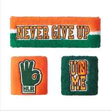 New Special offer WWE John Cena Sweatbands strong Wristbands 3 Piece Set RAW Q2