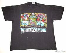 WHITE ZOMBIE Vintage T Shirt 90's Tour Concert 1992-94 Devil HORROR METAL Band L