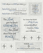 "36"" Fabric Panel - Inspired Journey Religious Bible Psalm - Timeless Treasures"