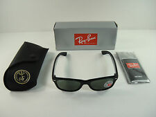 RAY-BAN NEW WAYFARER POLARIZED SUNGLASSES RB2132 901/58 BLACK/G-15 LENS 58MM NEW