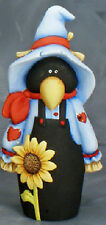 """Ceramic Bisque Ready to Paint Country Scare """"Crow"""" 9"""" Tall"""