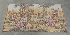 Antique French Beautiful Romantic Scene Tapestry 145X75cm (A197)
