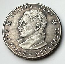 GERMAN EXONUMIA COIN    ADOLF HITLER REICHSMARK    1934 *** THIRD REICH WW2