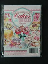"HUNKYDORY THE LITTLE BOOK OF ""CAKES & BAKES SET 24 A5  CARD TOPPERS NEW RELEASE"