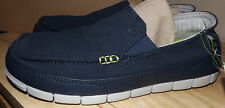 CROCS MENS  NEW SLIP ON SLIDES  NAVY BLUE WITH GREEN INSOLE SIZE 8M
