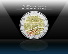 """FRANCE 2 EURO coin 2014 (No1) """" 70 Years since D - Day """" UNCIRCULATED"""
