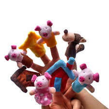 Finger Puppets Educational Hand Toy Kids Story Three Little Pigs Finger Dolls OJ