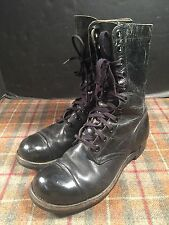 GA Georgia Shoe Co. Boots Military Jumper 1958 Black Lace Up Vintage 9.5 R