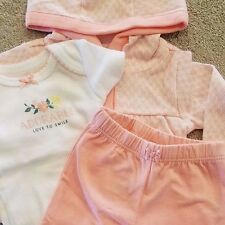 SWEET NEW CARTER'S PREEMIE 3PC PEACH DESIGN OUTFIT W/HOODED JACKET SET REBORN