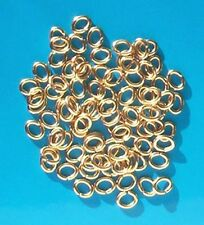 500 GP oval jump rings, 6.5mm x 5mm, findings for jewellery making crafts