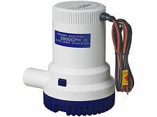 MARINE ELECTRIC BILGE PUMP 12V 2000GPH FOR BOAT, CARAVAN, RV – FIVE OCEANS