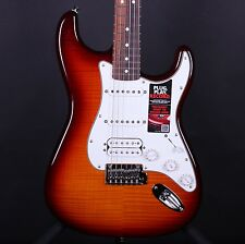 Fender HSS Plus Top IOS Deluxe Stratocaster Sunburst Strat Guitar w/Bag #7776