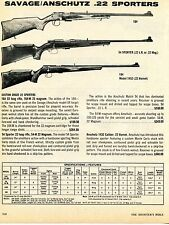 1976 Print Ad of Savage Anschutz Model 164, 54 Sporter & 184 Model 1432 Rifle