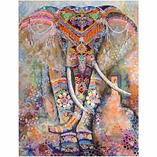 Jescrich Psychedelic Wall Hanging Elephant Tapestry Large Size Bohemian