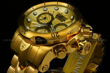 NEW Invicta Men's 53mm Venom Swiss Movt Chrono 18K Gold Plated SS Bracelet Watch