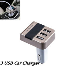Smart 3USB Quick Charger with Voltage Display Car Fast Charging for Mobile phone