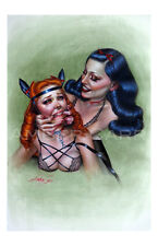 """Amber Carr Art Print 11"""" x 17"""" Pin Up Girl Submissive Dominant Pony Play"""
