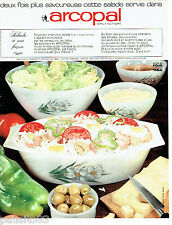 PUBLICITE ADVERTISING 086  1967  les plats à salade Arcopal verre trempé