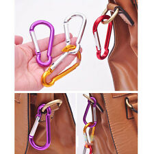 6X Popular Aluminum Carabiner Camp Snap Hook Keychain Hiking A1