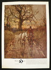 HACKING HOME by PETER BIEGEL HORSE EQUESTRIAN HUNTING 1pp MAGAZINE PRINT c1964