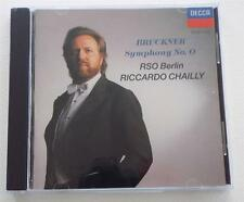 "NEW  Bruckner: Symphony no ""0"" / Chailly / RSO Berlin   WEST GERMAN  CD Pressing"