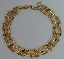 Unusual 9ct Gold Ladies Choker Necklace Chain p1999