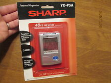 NEW SHARP YO-P5A 48 KB MEMORY 3 LINE touch screen display PERSONAL ORGANIZER NEW