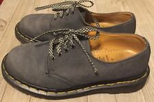 Dr Doc Martens England Navy Blue Lace Up Chunky Punk Shoes Womens Size 6