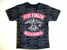 FIVE FINGER DEATH PUNCH EAGLE T SHIRT BLACK RED MEDIUM