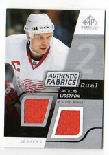 NICKLAS LIDSTROM NHL 2008-09 SP GAME USED DUAL AUTHENTIC FABRICS  RED WINGS